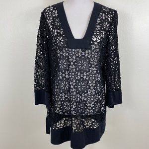 Free People Eyelet Lace Tunic Blouse in Blouse